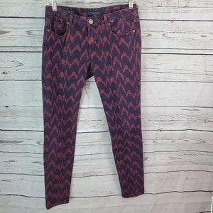 Vigoss Studio  Chevron Skinny Jeans 30 x 31